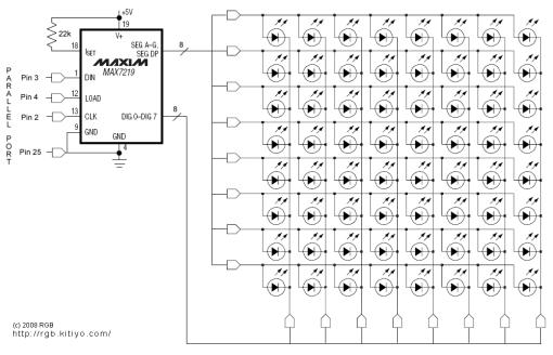 Ecco come si può pilotare una matrice di 64 LED con un MAX7219